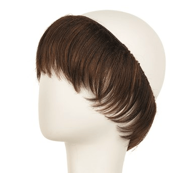 Korthårs Hairpiece i chestnut brown