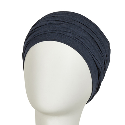 Karma turban i mørkeblå melange