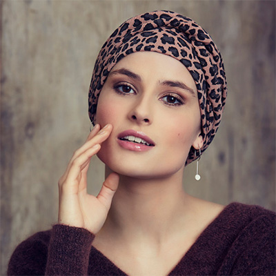 Edith turban med dyreprint