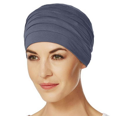 Yoga turban blå