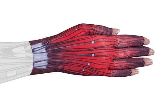 Cyborg kompressionshandske med fem fingre