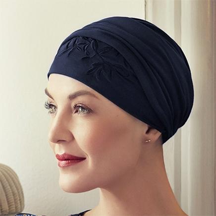 Stilig Shakti turban hue mørkeblå