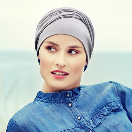 Zoya turban lavendelgrå