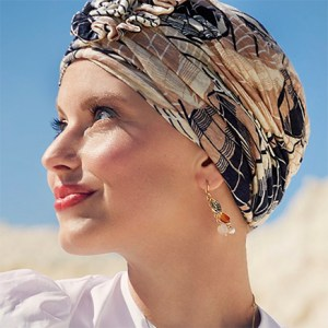 Karamelfarvet Lotus turban