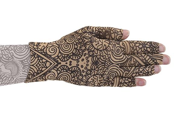 Beauty Beige kompressionshandske med fingre