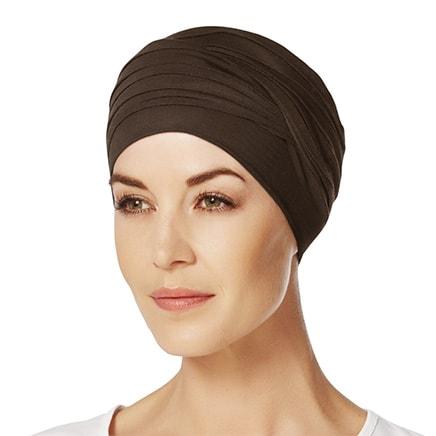 Shanti turban hue i mørkebrun