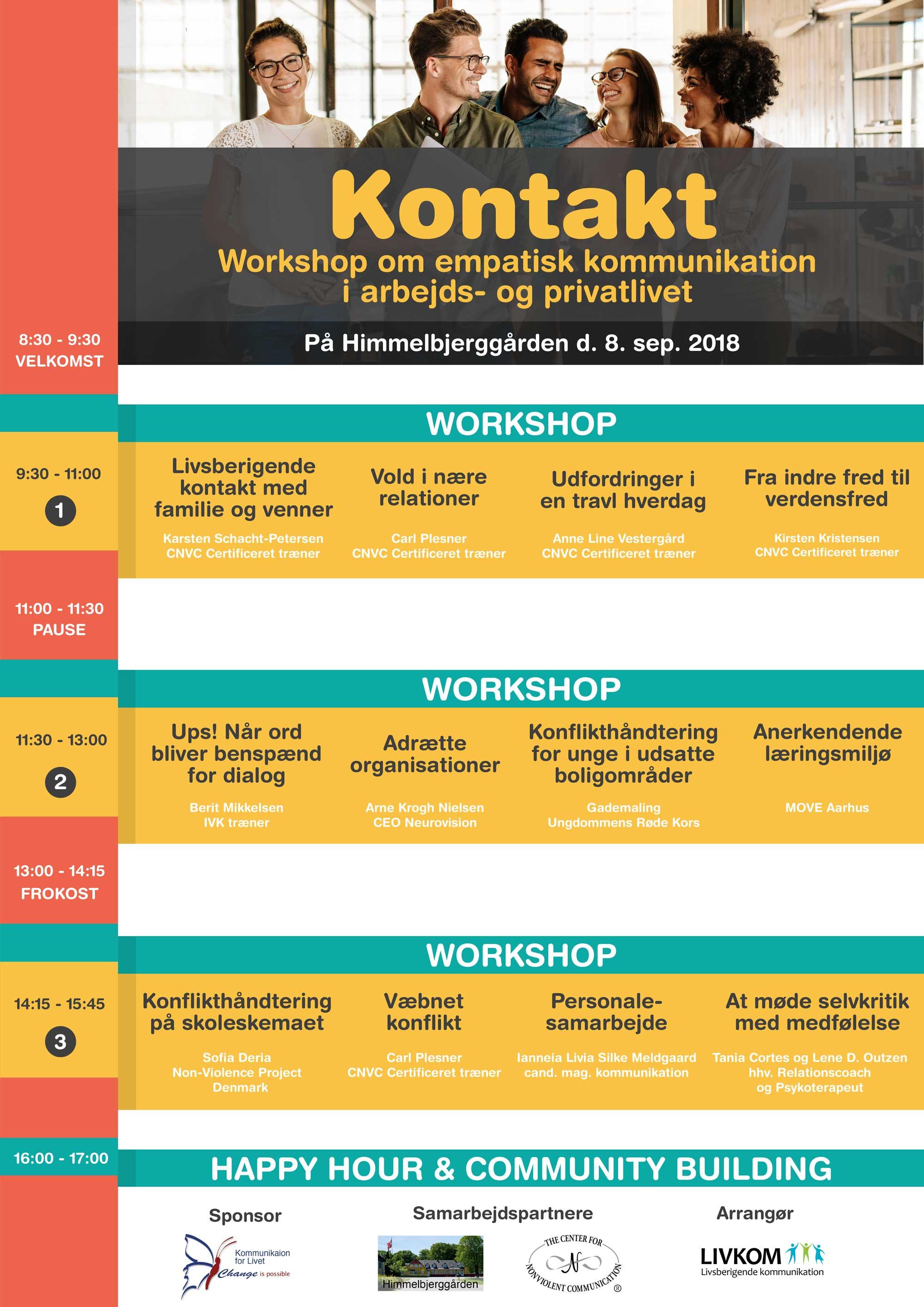 KONTAKT - program for workshopdag om Ikkevoldelig kommunikation