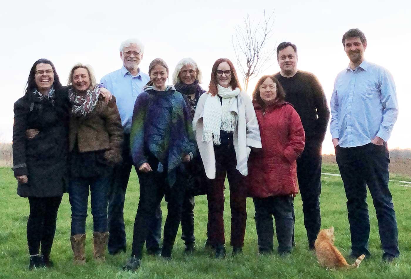 Deltagere på LIVKOMs generalforsamling i april 2019 hos Rosenlund Kurser på Fyn