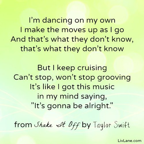 Shake It Off lyrics by Taylor Swift