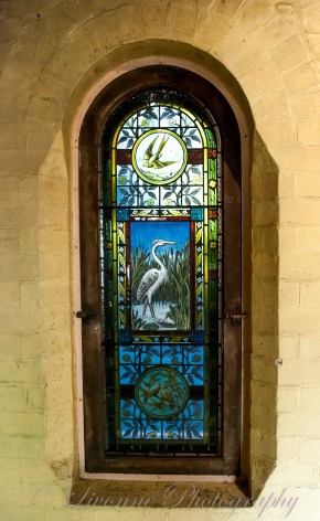 Stained glass windows at The Turkish Bath Museum