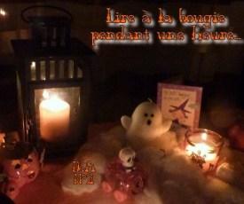 readathon Halloween defi 2 Lire a la bougie pendant une heure