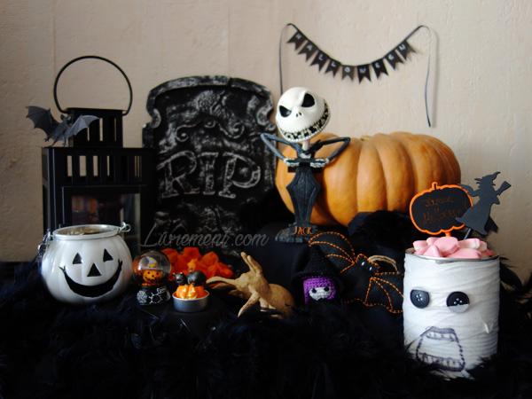 Autel décoré pour Halloween