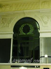 Nuit de la lecture 2018 Fenêtre de la grande salle de la bibliothèque d'étude et du patrimoine de Toulouse