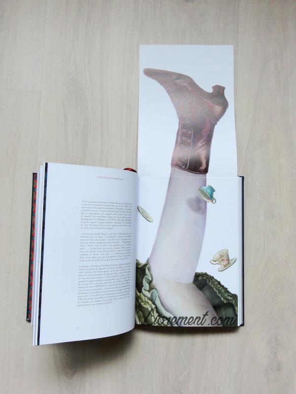 Illustration en rabat du livre Alice au pays des merveilles de Benjamin Lacombe