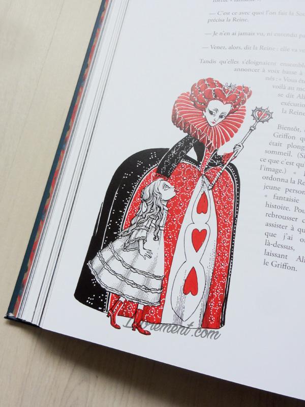 Alice et la Reine de Coeur dans Alice au pays des merveilles de Benjamin Lacombe