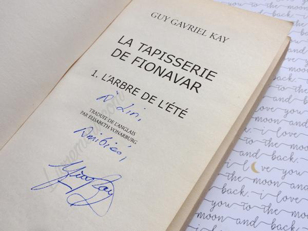 Dédicace de Guy Gavriel Kay pour Livrement