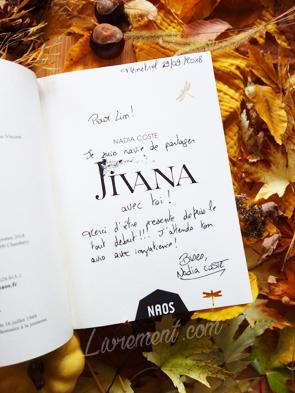 Dédicace de Jivana par Nadia Coste