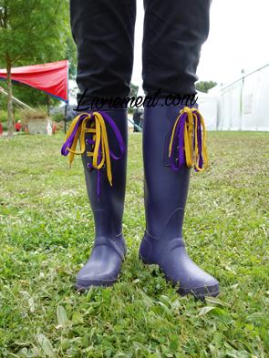 Echos et merveilles 2019 : bottes de pluie violettes