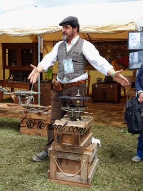 Echos et merveilles 2019 : démonstrateur steampunk