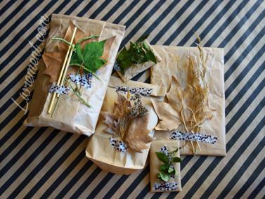 l'automne s'invite sur les papiers cadeaux