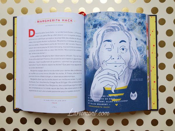 Livres histoires du soir pour filles rebelles portrait de Magherita Hack