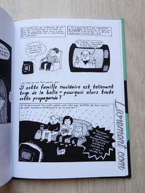 Livre I'm every woman de Liv Strömquist : page de la propagande de la famille nucléaire