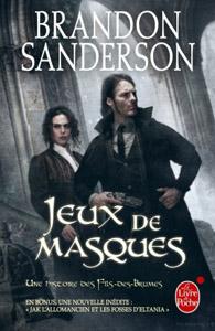 Couverture du roman Jeux de masques de Brandon Sanderson, tome 2 de la série Wax et Wayne
