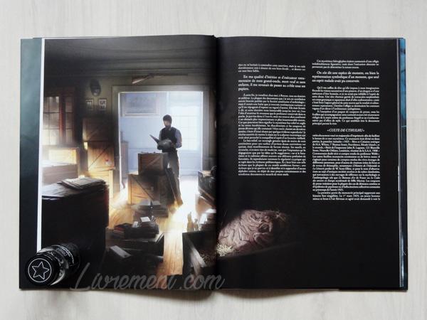 Photographie du livre L'appel de Cthulhu de Lovecraft, illustré par Baranger : illustration de Francis Wayland Thurston