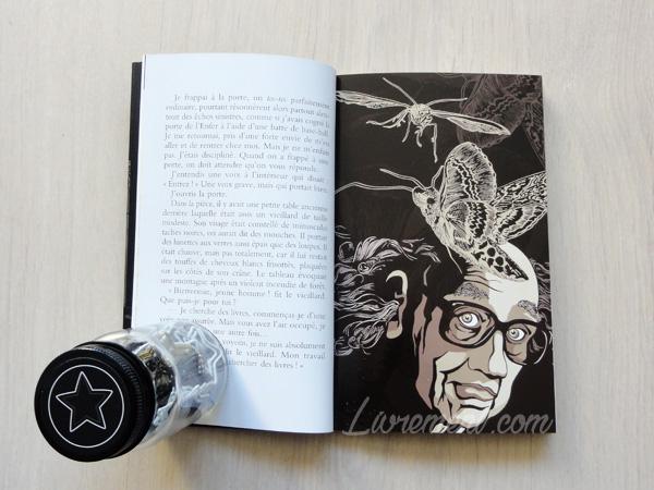 L'étrange bibliothèque de Murakami, une double page