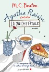 "Couverture du roman ""La quiche fatale"" de MC Beaton : Agatha Raisin tome 1"