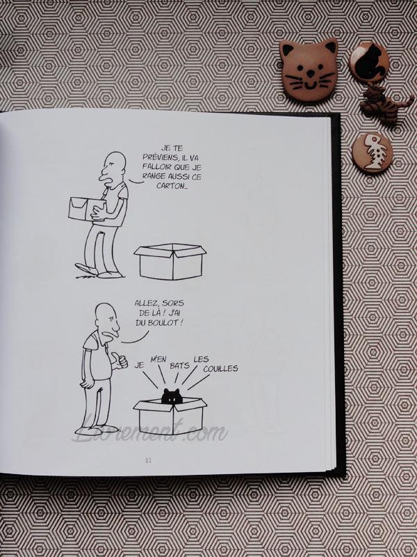 Putain de chat de Lapuss : extrait du carton