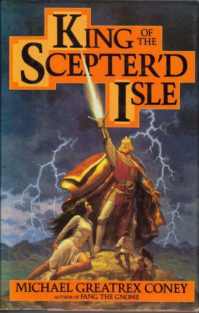 """Couverture anglaise du livre """"Le roi de l'île au sceptre"""" de Michael Coney"""