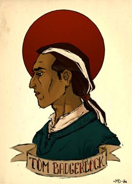 Illustration du portrait de Tom Blaireau