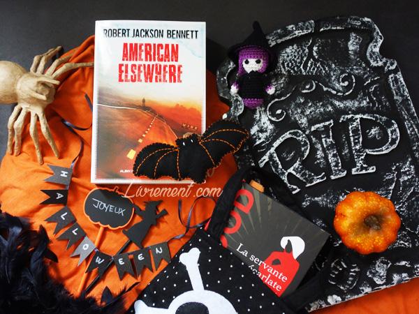 Livres mis en scène pour le challenge Halloween 2018