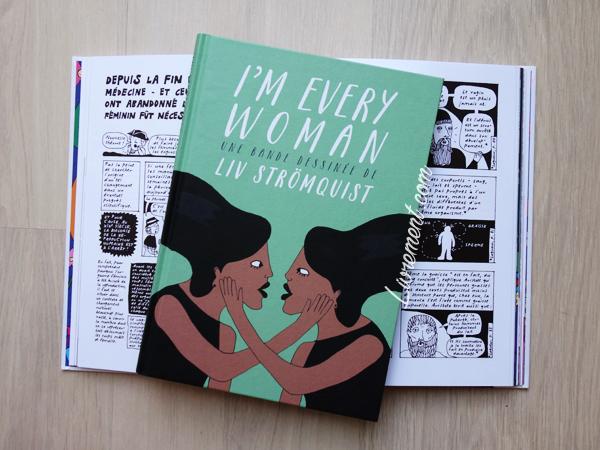 Livres de Liv Strömquist : I'm every woman pris en photo dessus L'origine du monde ouvert