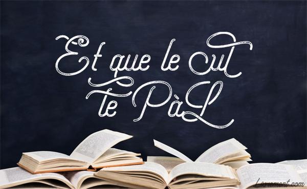 """Logo """"et que le cul te PAL"""" blog Livrement"""