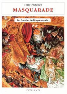 """Couverture du roman """"Masquarade"""" de Terry Pratchett, tome 18 des annales du disque-monde"""