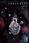 """Couverture du tome 4 de Descender par Jeff Lemire et Dustin Nugyen. Il porte le titre de """"Mise en orbite"""""""