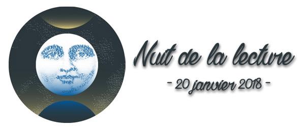 Logo de l'événement de la nuit de la lecture de 2018, billet du blog Livrement