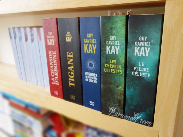 Raynonnage de livres de Guy Gavriel Kay