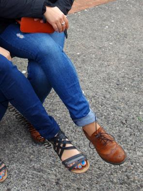 Chaussures d'une vichyssoise et d'une toulousaine