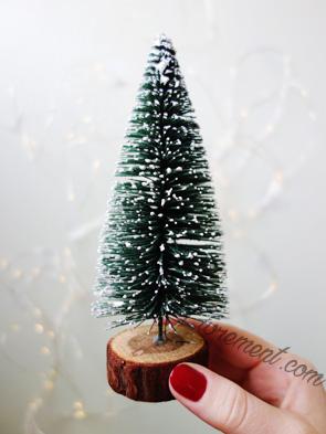 Sapin enneigé, décoration de Noël