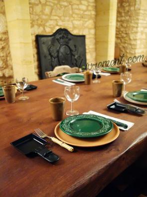 Table dressée spéciale raclette