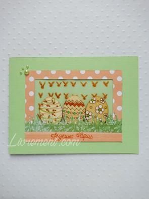 Scrap : carte pour pâques avec œufs en bois