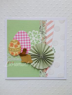 Scrap carte de pâques dans les tons pastel