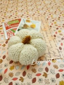 citrouille blanche tricotée