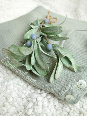 Décoration de Noël : branche de myrtillier