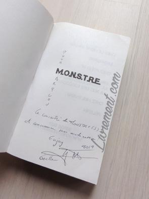 Dédicace de Hervé Jubert pour l'intégrale MONSTRE