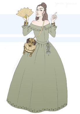 Portrait dessiné de Sophronia Temminnick, personnage de Gail Carriger