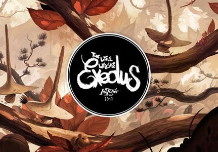 """Couverture de l'album """"the little witches exodus"""" par Xavier Collette"""